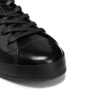 rag & bone Shoes - Rag and Bone Black Rb1 Glossed Leather Sneakers 7